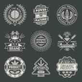 Logotypes natural product set. — Stock Vector