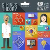 Physics science illustrations — Stock Vector