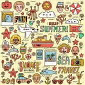 Summer Holidays Vacation Travel — Stock Vector