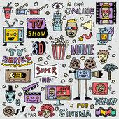 电视节目、 系列和电影 — 图库矢量图片