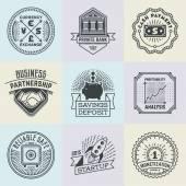 Financial Business Insignias Logotypes — Stock Vector