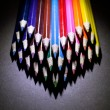 Macro Shot of Sharpened Colorful Pencils Against Black Background — Stock Photo #60611635