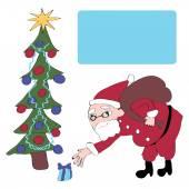 Mikołaj daje prezenty — Wektor stockowy