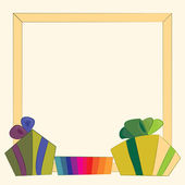 Gifts and frame — Stock Vector