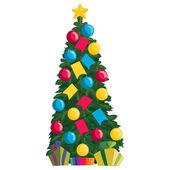 рождественская елка с подарками — Cтоковый вектор
