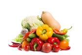 Légumes isolés sur fond blanc — Photo