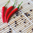 Colored Peppers Mix with red chili pepper. Pepper spices — Stock Photo #58505055
