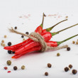 Colored Peppers Mix with red chili pepper. Pepper spices — Stock Photo #58505523