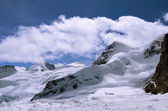View from Jungfraujoch (Top of Europe, Switzerland) — Stock Photo