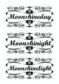 Logo monshine free design — Stock Vector