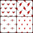 Vector heart pattern backgrounds for valentines day — Stock Vector #54749341