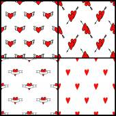 Vector heart pattern backgrounds for valentines day — Stockvector