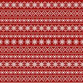 Traditional christmas ornamental pattern — Stockvektor