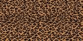Natural fur leopard print. — Stock Vector