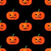 Seamless halloween background. Happy Halloween concept illustration on black background. — Stock Vector