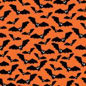 Halloween pattern with bats. Seamless halloween background. — Stock Vector