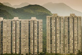Block of buildings on hill in Hong Kong  — Stock Photo