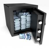 Safe and money. — Stock Photo