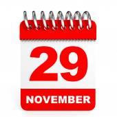 Calendar on white background. 29 November. — Stock Photo