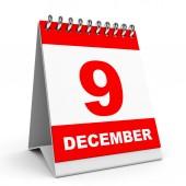 Calendar. 9 December. — Stock Photo