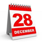 Calendario. 28 dicembre. — Foto Stock