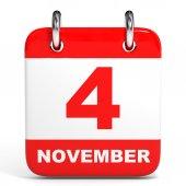 Calendar. 4 November. — Stock Photo
