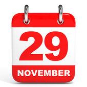 Calendar. 29 November. — Stock Photo