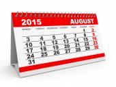 Calendar August 2015. — Stock Photo