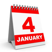 Calendar. 4 January. — Stock fotografie
