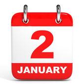 Calendar. 2 January. — Stock Photo