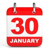 Kalendarz. 30 stycznia. — Zdjęcie stockowe