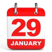 Calendar. 29 January. — Stock Photo