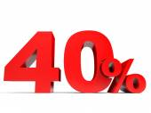 Red forty percent off. Discount 40. — Stock Photo