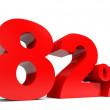 Red eighty two percent off. Discount 82. — Stock Photo #60252449