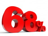 Red sixty eight percent off. Discount 68. — Stock Photo