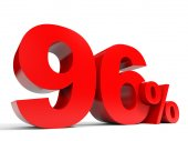 Red ninety six percent off. Discount 96. — Stock Photo