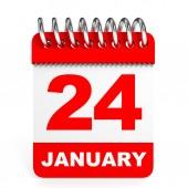 Calendar on white background. 24 January. — Stock Photo