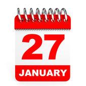 Calendar on white background. 27 January. — Stockfoto