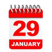 Calendar on white background. 29 January. — Stock Photo