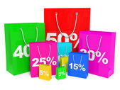 Shopping bags. Sale. — Stockfoto
