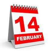 Calendar. 14 February. — Stock Photo