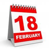 календарь. 18 февраля. — Стоковое фото