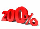 Two hundred percent off. Discount 200. — Stock Photo