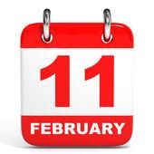 Calendar. 11 February. — Stock Photo