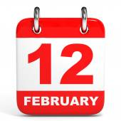 Calendar. 12 February. — Stock Photo