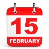 календарь. 15 февраля. — Стоковое фото