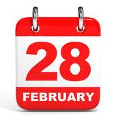 календарь. 28 февраля. — Стоковое фото