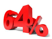 Red sixty four percent off. Discount 64. — Stock Photo