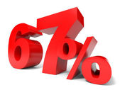 Red sixty seven percent off. Discount 67. — Stock Photo