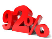 Red ninety two percent off. Discount 92. — Stock Photo